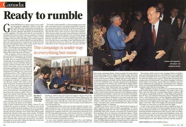 Article Preview: Ready to rumble, April 1997 | Maclean's