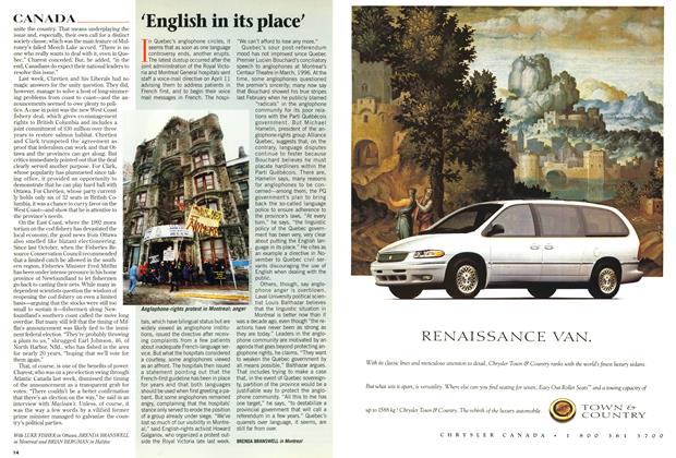 Article Preview: 'English in its place', April 1997 | Maclean's