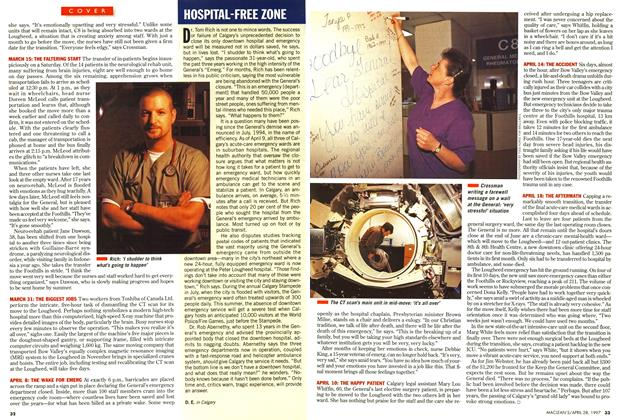 Article Preview: HOSPITAL-FREE ZONE, April 1997 | Maclean's