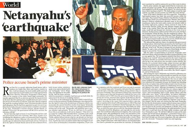 Article Preview: Netanyahu's 'earthquake', April 1997   Maclean's