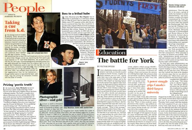 Article Preview: The battle for York, April 1997 | Maclean's