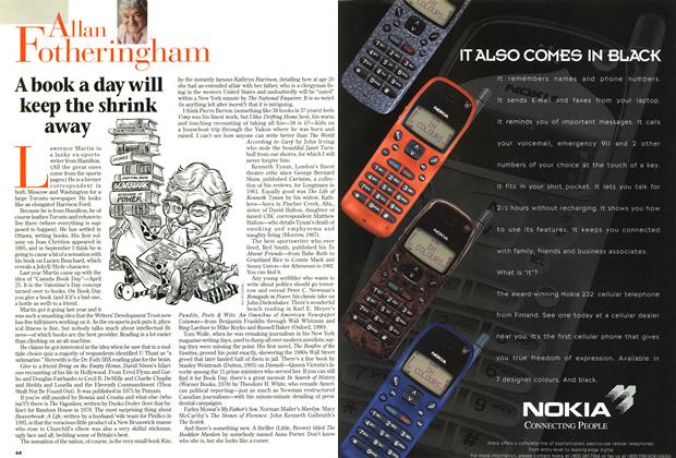 Article Preview: A book a day will keep the shrink away, April 1997 | Maclean's