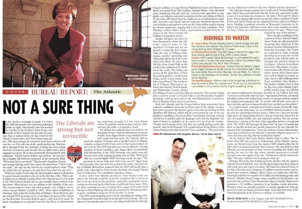Article Preview: NOT A SURE THING, May 1997 | Maclean's