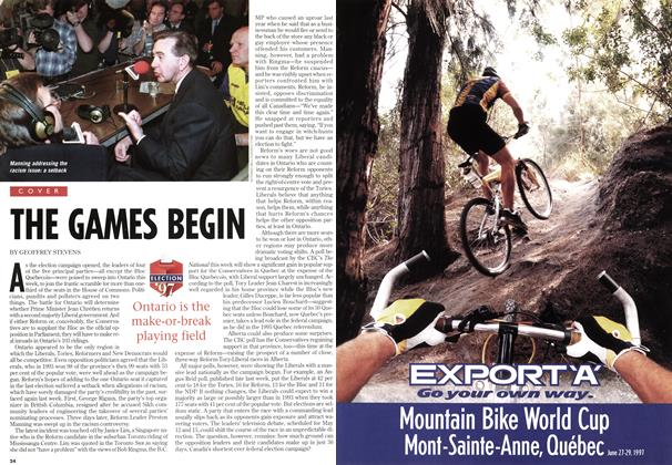 Article Preview: THE GAMES BEGIN, May 1997 | Maclean's
