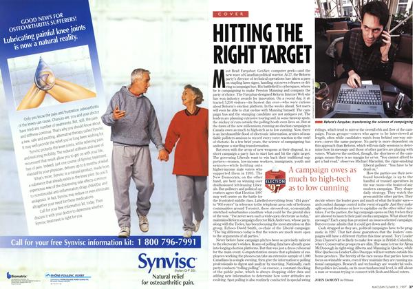 Article Preview: HITTING THE RIGHT TARGET, May 1997 | Maclean's