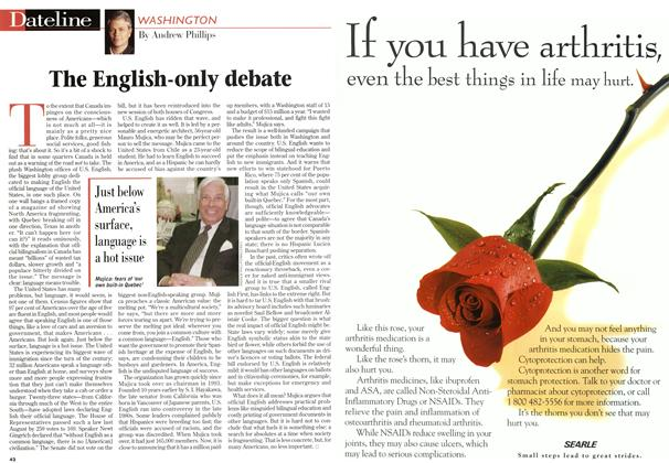 Article Preview: The English-only debate, May 1997 | Maclean's