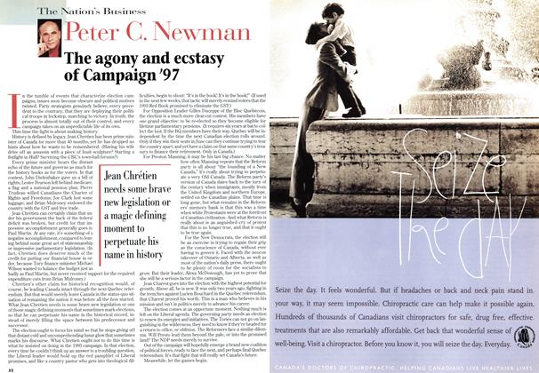Article Preview: The agony and ecstasy of Campaign'97, May 1997 | Maclean's