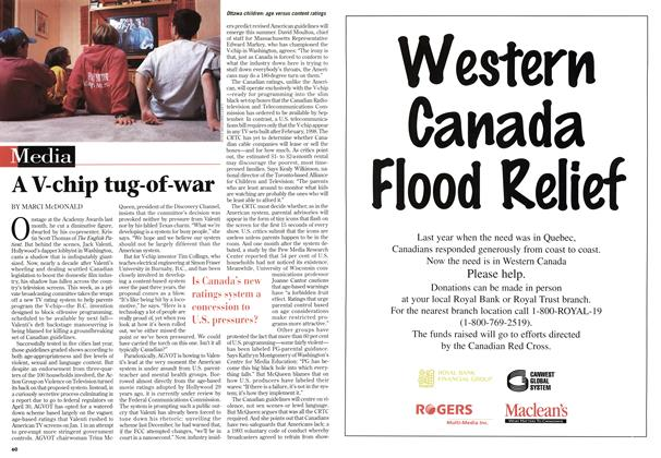 Article Preview: A V-chip tug-of-war, May 1997 | Maclean's