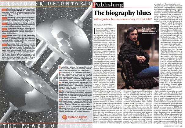 Article Preview: The biography blues, May 1997 | Maclean's