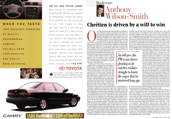 Article Preview: Chrétien is driven by a will to win, May 1997 | Maclean's