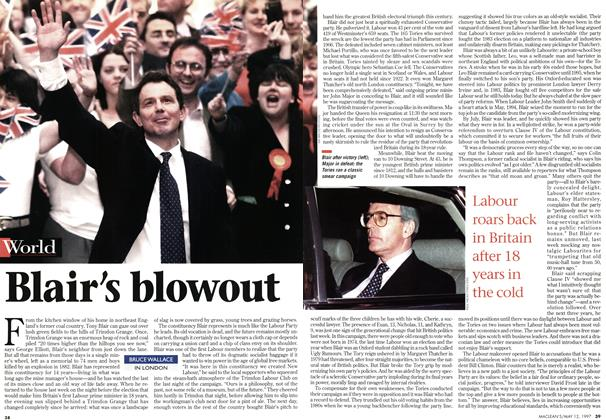 Article Preview: Blair's blowout, May 1997 | Maclean's