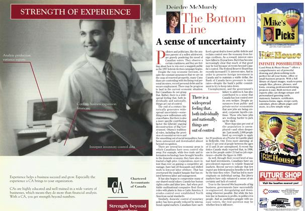 Article Preview: A sense of uncertainty, May 1997 | Maclean's