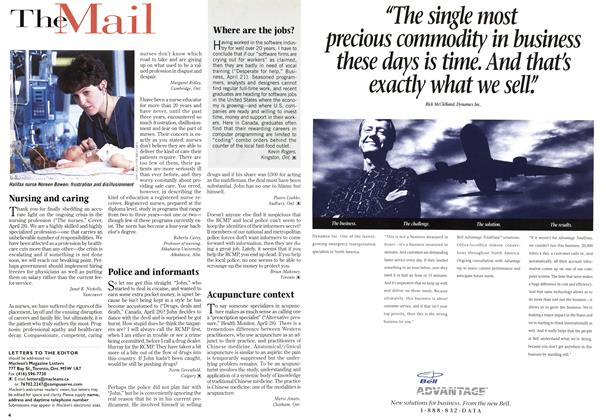 Article Preview: TheMail, May 1997   Maclean's