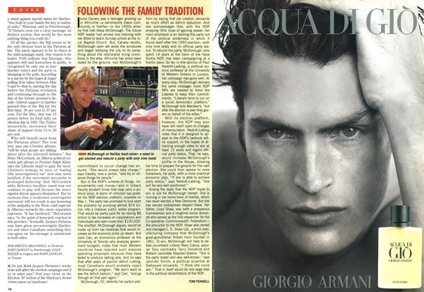 Article Preview: FOLLOWING THE FAMILY TRADITION, May 1997 | Maclean's