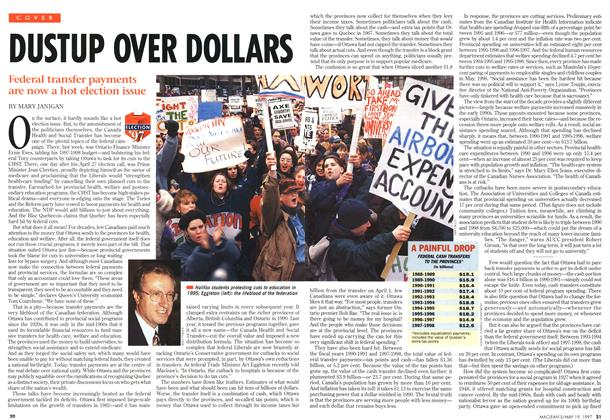Article Preview: DUSTUP OVER DOLLARS, May 1997 | Maclean's