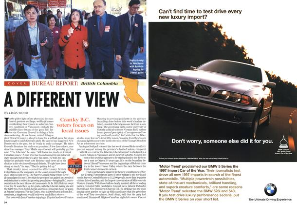 Article Preview: A DIFFERENT VIEW, May 1997 | Maclean's