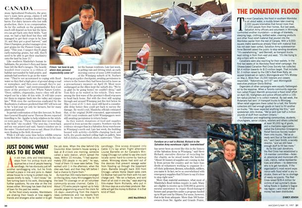 Article Preview: THE DONATION FLOOD, May 1997 | Maclean's