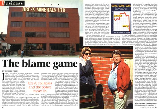 Article Preview: The blame game, May 1997   Maclean's