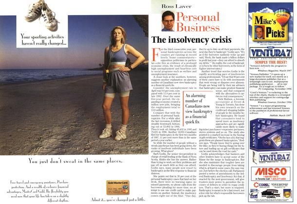 Article Preview: The insolvency crisis, May 1997 | Maclean's