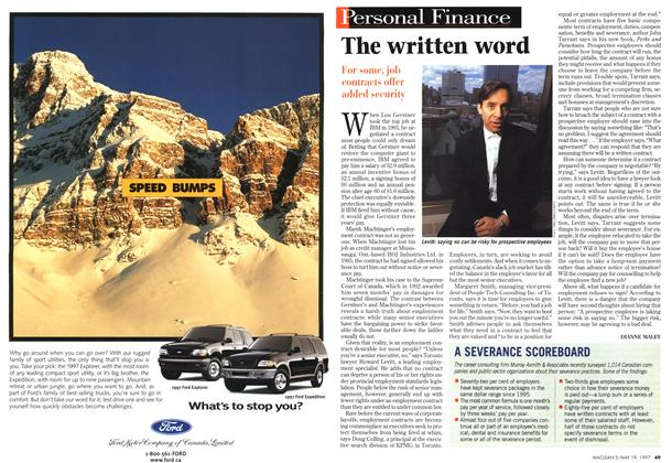 Article Preview: The written word, May 1997 | Maclean's