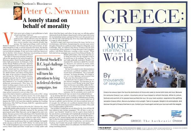 Article Preview: A lonely stand on behalf of morality, May 1997 | Maclean's