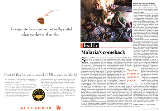 Article Preview: Malaria's comeback, May 1997 | Maclean's