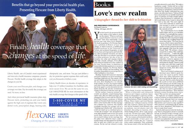 Article Preview: Love's new realm, May 1997 | Maclean's