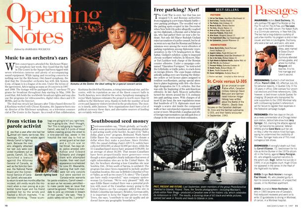 Article Preview: Opening Notes, May 1997 | Maclean's