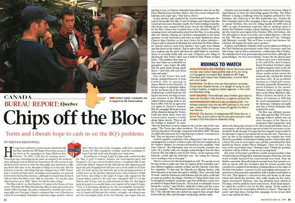 Article Preview: Chips off the Bloc, MAY26,1997 1997 | Maclean's