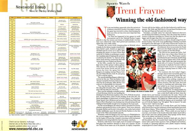 Article Preview: Winning the old-fashioned way, MAY26,1997 1997 | Maclean's