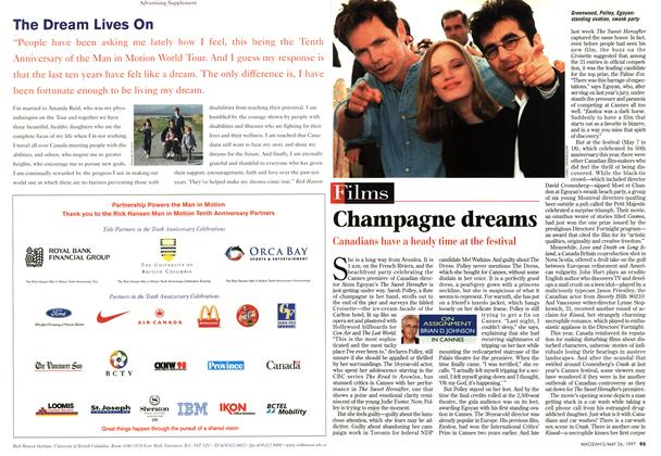 Article Preview: Champagne dreams, MAY26,1997 1997 | Maclean's