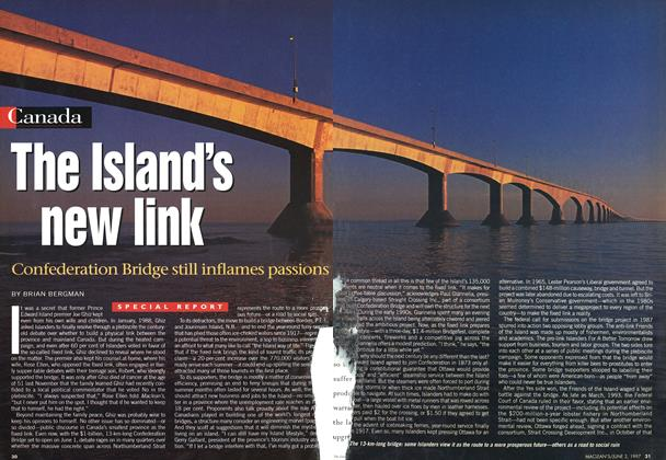 Article Preview: The Island's new link, June 1997 | Maclean's