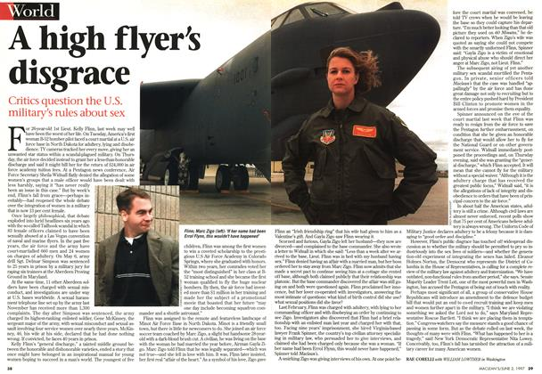 Article Preview: A high flyer's disgrace, June 1997 | Maclean's