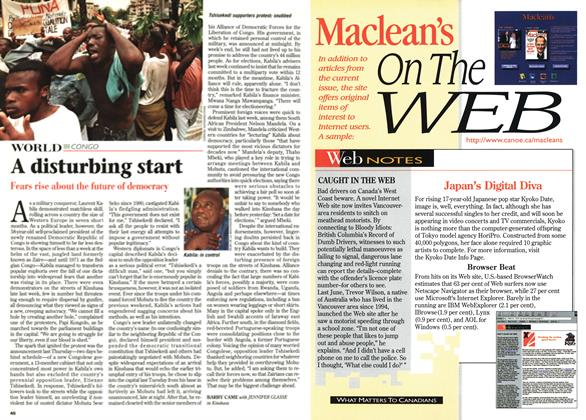 Article Preview: A disturbing start, June 1997 | Maclean's