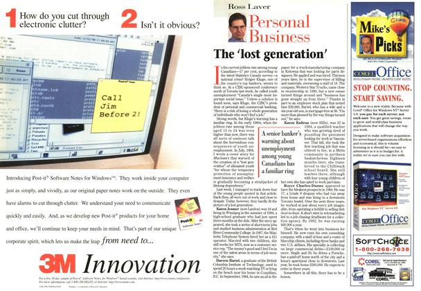 Article Preview: The 'lost generation', June 1997 | Maclean's
