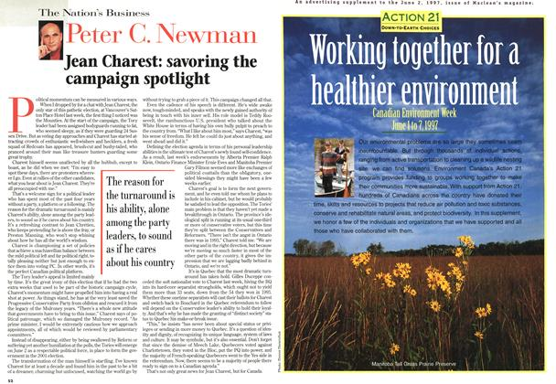 Article Preview: Jean Charest: savoring the campaign spotlight, June 1997 | Maclean's