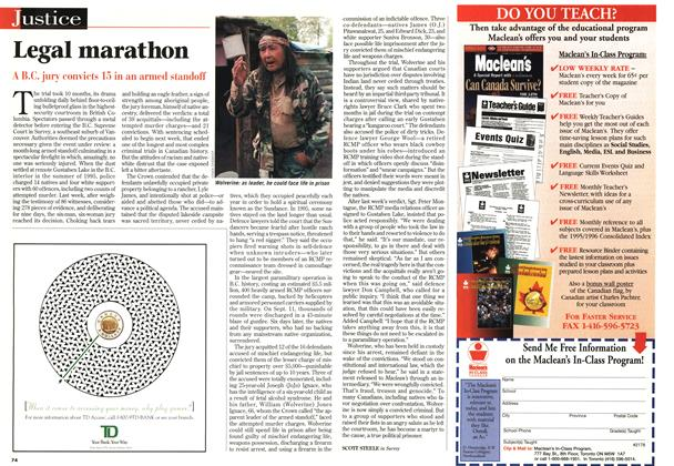 Article Preview: Legal marathon, June 1997 | Maclean's