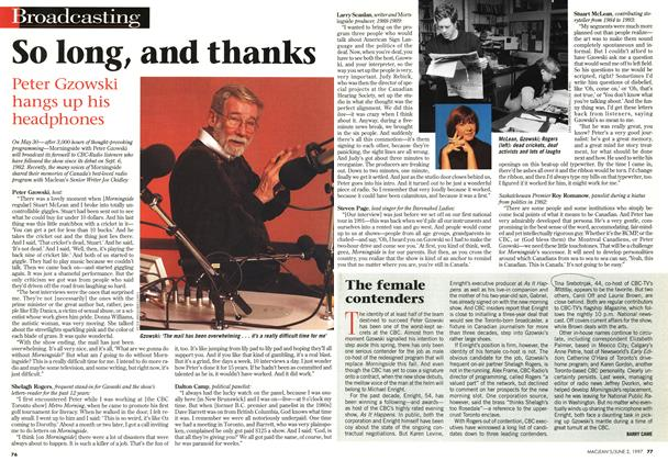 Article Preview: The female contenders, June 1997 | Maclean's