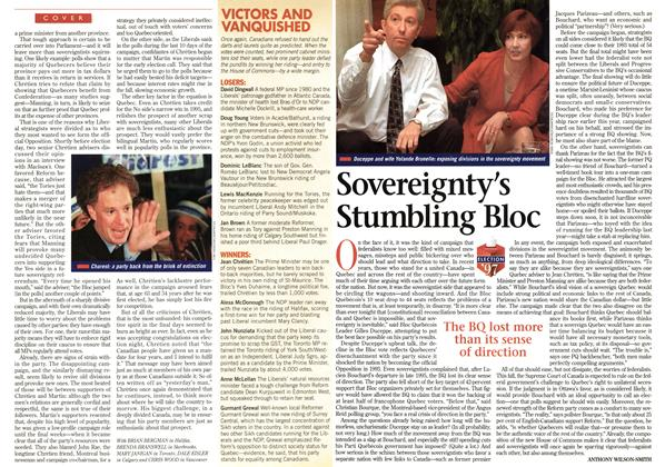 Article Preview: Sovereignty's Stumbling Bloc, June 1997 | Maclean's
