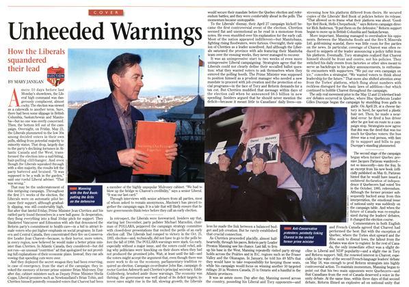 Article Preview: Unheeded Warnings, June 1997 | Maclean's
