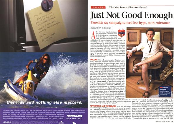 Article Preview: Just Not Good Enough, June 1997 | Maclean's
