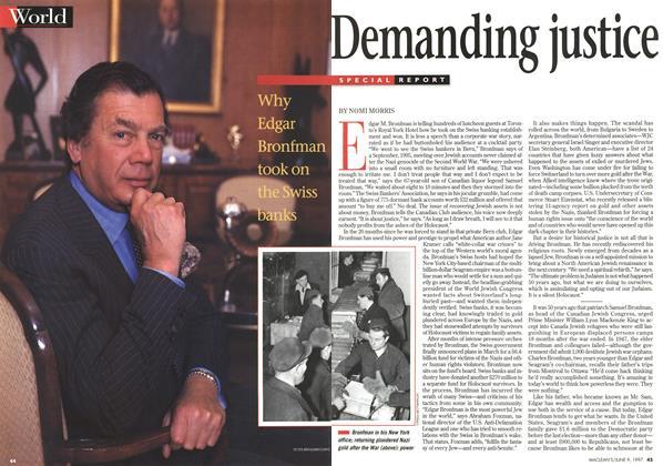 Article Preview: Demanding Justice, June 1997 | Maclean's