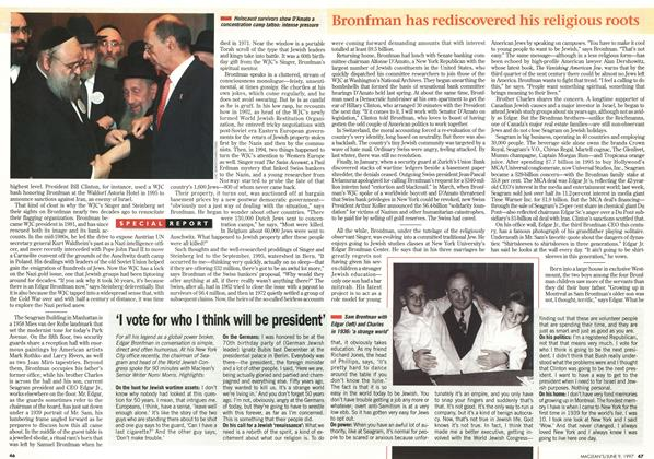 Article Preview: 'I vote for who I think will be president', June 1997   Maclean's