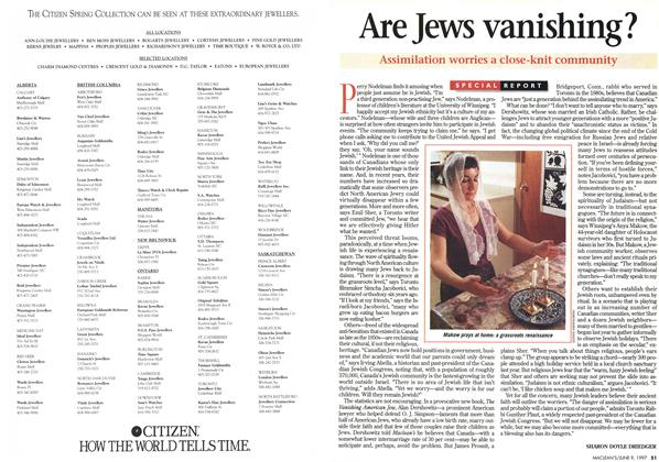 Article Preview: Are Jews vanishing?, June 1997 | Maclean's