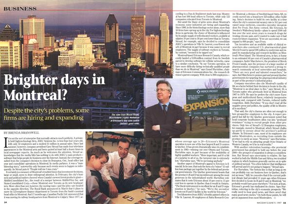 Article Preview: Brighter days in Montreal?, June 1997 | Maclean's