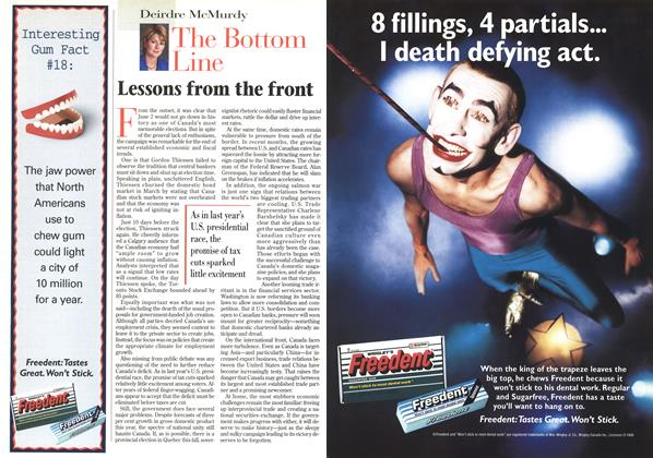 Article Preview: Lessons from the front, June 1997 | Maclean's