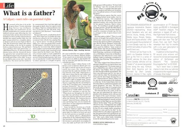 Article Preview: What is a father?, June 1997 | Maclean's