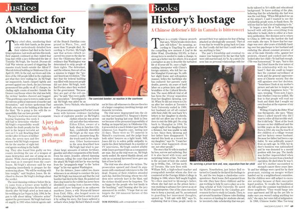 Article Preview: History's hostage, June 1997 | Maclean's