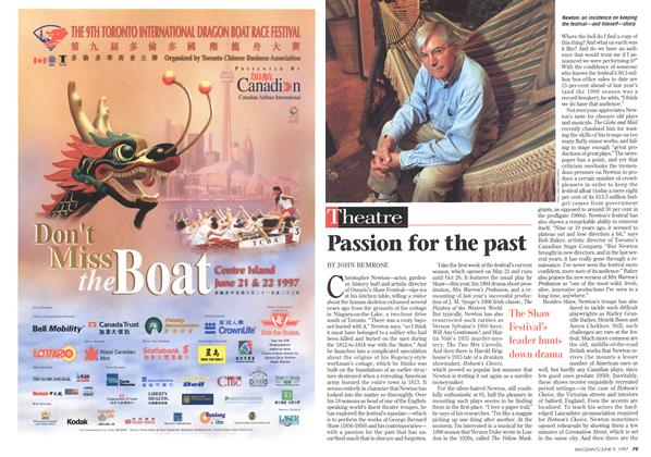 Article Preview: Passion for the past, June 1997 | Maclean's