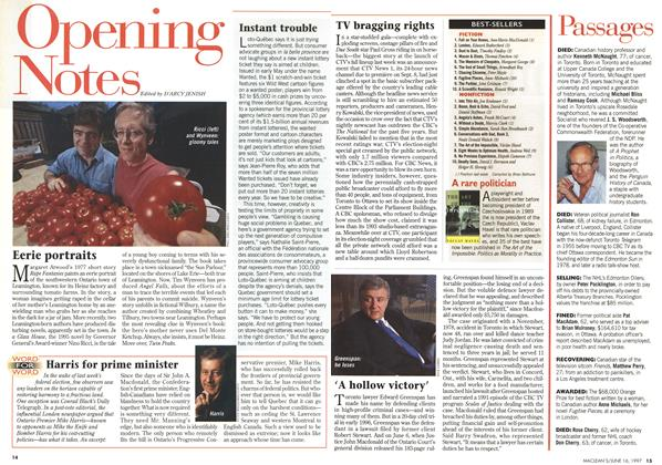 Article Preview: Opening Notes, June 1997 | Maclean's